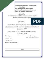 Étude de La Structure Fiscale Des Entreprises Algériennes Selon Le Nouveau Système Comptable Et Financier SCF