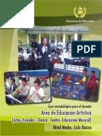 Guía Docente Educ Artistica (Artes Visuales, Danza, Educación Musical, Teatro)