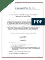 10-Draft Punjab Municipal Water Act 2014