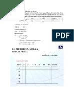metodo simplex primal