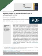 Big Data y Analítica Del Aprendizaje en Aplicaciones de Salud y Educación Médica - Big Data and Learning Analytics in Health and Medical Education Applications