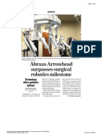 Abrazo Arrowhead surpasses surgical robotics milestone