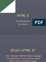 HTML 5 - An Introduction
