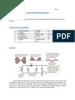 AM demodulation_envelope detector