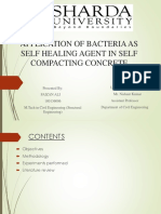 Application of bacteria as self healing agent in self compacting concrete