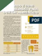 AMIDO - propriedades para o setor alimentício