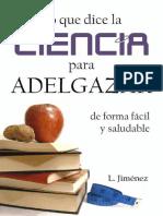 Lo Que Dice La Ciencia Para Adelgazar de Forma Facil y Saludable- L. Jimenez