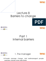 Lecture 8 - Barriers to change (1)