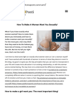 How to Make a Woman Want You Sexually! 2 Tips Every Man Must Know!