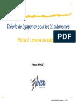Théorie de Lyapunov pour les systèmes autonomes