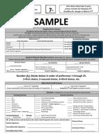 7th grade choice sheet 2020-21 sample