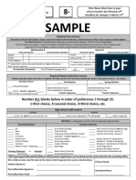 8th grade choice sheet 2020-21 sample