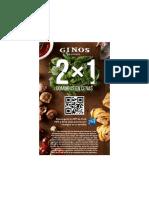 Cenas gratis en Gino's
