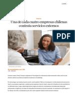 Una de cada cuatro empresas chilenas contrata servicios externos - eleconomistaamerica.cl