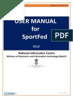User Manual SportFed