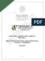 SENASICA - GUÍA PRODUCCIÓN AGRÍCOLA ORGÁNICAS
