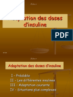 Cours de l 'Adaptation Des Doses d'Insuline