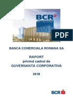Raport de Guvernanta Corporativa Al BCR 2018 RO
