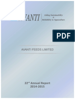 Avanti Feeds Ltd-Annual Report 2014-15