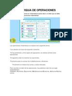 Jerarquía de Operaciones (1)