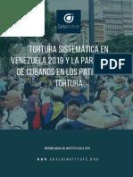 Tortura sistemática en venezuela 2019 y la partición de cubanos en los patrones de tortura