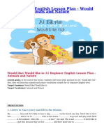 A1 Beginner English Lesson Plan – Would like (to) – Animals and Nature