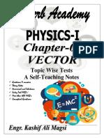 Physics XI Vectors and Scalars Notes SINDH