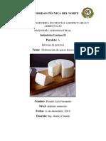 Informe de Queso Fresco y ( Acidez y densidad)
