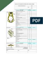 Check List de Equipos de Protección Contra Caídas