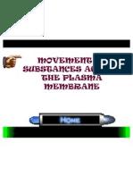 Bio f4 Chap 3 Movement of Substances Across the Plasma Membrane