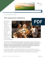 The Aquarian Sadhana _ 3HO Foundation