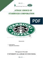Journal Starbucks Analisis-Strategic Choice