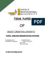 TERM PAPER OF C
