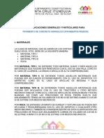 ESPECIFICACIONES GENERALES Y PARTICULARES v