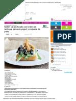 Melón Caramelizado Con Brotes de Lechuga, Salsa de Yogurt y Crujiente de Pollo - MSN Recetas