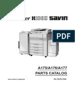 Manual de partes Gestetner 2751