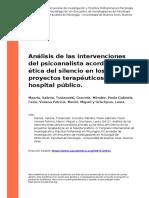 Mazzia, Valeria, Tustanoski, Graciela (..) (2012). Analisis de las intervenciones del psicoanalista acordes a una etica del silencio en l (..).pdf