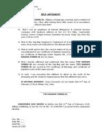 Affidavit - middle -pag-ibig