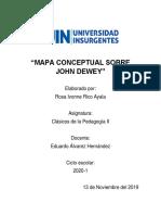 Mapa Conceptual Sobre John Dewey