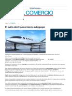 El avión eléctrico comienza a despegar _ El Comercio