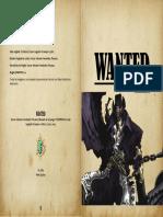 Wanted (Juego de cartas PnP) - Reglamento.