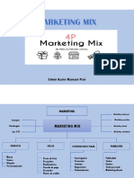 Mentefacto sobre el marketing mix