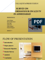 Report Survey on Consumer Behaviour on LCD TV's in Ahm'd
