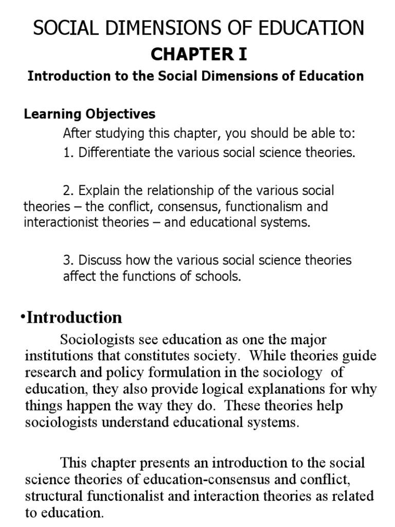Social Dimension Gender Role Social Group