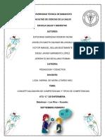 Conceptualización de Competencias y Tipos de Competencias GRUPO 6