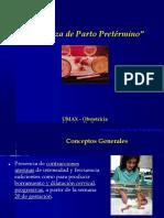 Amenaza de Parto Prematuro - Reduzido PPTX