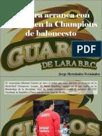 Jorge Hernández Fernández - Carrera Arranca Con Derrota en La Champions de Baloncesto