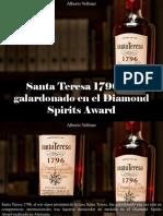 Alberto Vollmer - Santa Teresa 1796 Fue Galardonado en El Diamond Spirits Award