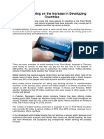 Mobile Banking on the Increase in Developing Countries