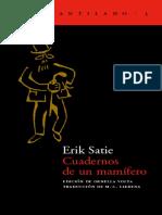 Cuadernos-de-un-mamífero-Erik-Satie